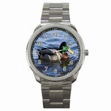 Mallard Duck Colorful Lake Bird Stainless Steel Watch