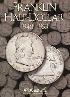 1948-1963  FRANKLIN HALF DOLLAR  COIN FOLDER  H. E. HARRIS / WHITMAN - NEW