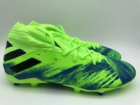 Adidas Men's Nemeziz 19.3 FG Soccer Cleats Green FV3988 Size 9.5 New