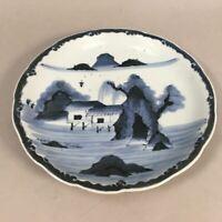 Antique Japanese Porcelain Serving Plate Charger Centerpiece Blue White PP356
