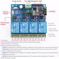 ESP8266 Wifi 4-Channel Relay Module IOT Wireless Transmitter Board 12V