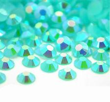 4000 Crystal Flat Back Iridescent Nail Art Face Festival Rhinestones Gems AB 3mm