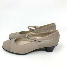SAS Womens Isabel beige Patent Mary Jane pump Heels Size 9 N