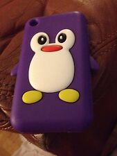 Iphone 3 caso púrpura Pingüino