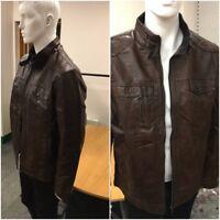 Men Brown Designer Biker slim fit leather jacket High Quality Fast Delivery