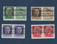 1943 ZARA GERMANY OCCUPATION LOT LINED ITALY OVERPRINT STAMPS MNH OG STAMPS