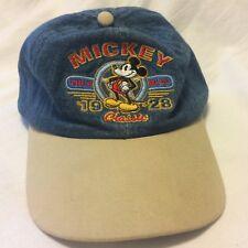 True Blue Mickey Mouse Hat Youth Denim Strapback Baseball Cap VGUC Disney
