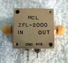 COAXIAL AMPLIFIER SMA  ZFL-2000 by MCL MEDIUM POWER 10 to 2000 MHz