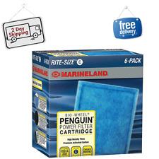 6-Pack Marineland Rite-Size Cartridge C Bio-Wheel Penguin Power Filter Cartridge