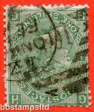 "SG. 117 wi. J104 (2) c. "" HG "". 1/- green. Plate 4. INVERTED WATERMARK."