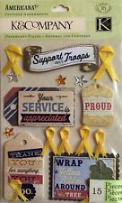 Support Our Troops - Stitched Cloth Dimensional Stickers -  K&Company
