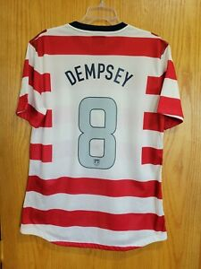 Nike USA US Soccer USMNT 2012 Waldo Home Jersey Clint Dempsey #8 Size XL