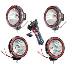 4pcs 7 inches 4x4 Off Road 6000K 55W Xenon HID Fog Lamp Light Spot+Flood Relay-4