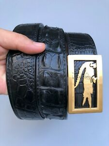 Luxury Men's Belt - Genuine Crocodile Skin- Very Formal Handmade Belt -DL5x5