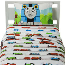 THOMAS Tank TRAIN 3p TWIN BED SHEET SET Boys Single BLUE RED Engine COTTON Blend
