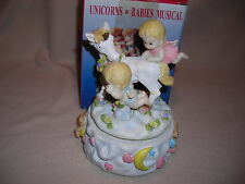 Uniorn & Babies Musical Figurine -New - Boxed- Unknown Tune