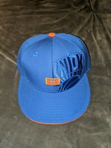 NEW YORK KNICKS Reebok Fitted Hat Cap Blue Orange 7 1/4 NEW