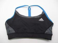 b721f1846da25 ADIDAS Sports Bra Women s Size XS CLIMACHILL Training Black Blue Racer  BR1981