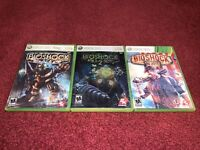 BioShock 1-BioShock 2-BioShock Infinite CIB Microsoft Xbox 360-TESTED & VGC!