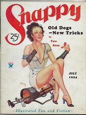 ~SNAPPY - VINTAGE GGA SPICY ROMANCE PULP MAGAZINE~July 1934 EARLE BERGEY Cover!
