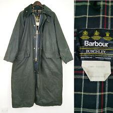 """Barbour Burghley Long Riding Coat A170 Blue Waxed Cotton C40 / 102cm Chest 40"""" M"""