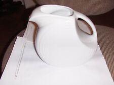 Fiesta Large Disk Pitcher in White Displayed only Fiestaware