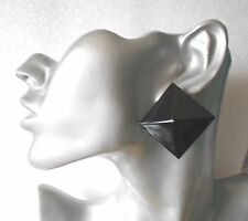Black Pyramid Stud Earrings