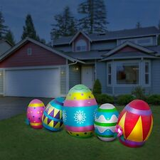 Inflatable Easter Eggs LED Lighted 10' W Yard Easter Decorations Lawn Ornament