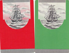 #1  2 (pair) vintage single playing swap cards - Tall Ships - JS