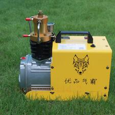 New 300BAR 4500PSI High Pressure Air Compressor PCP Airgun Scuba Air Pump 220V