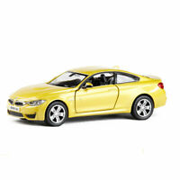 BMW M4 1:36 Model Car Metal Diecast Gift Toy Vehicle Kids Collection Gold