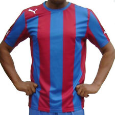 a7cf3089907c Puma Shirt Mens Red Blue Striped Exercise Jersey Sports Football Training  Top
