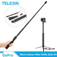 TELESIN 90cm Carbon Fiber Selfie Stick Tripod For GoPro DJI  Action Sport Camera