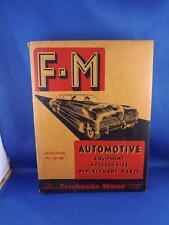 FAIRBANKS MORSE FM AUTOMOTIVE EQUIPMENT ACCESSORIES PARTS CARS CATALOG 45-46