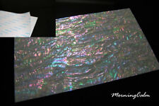 3 Sheets of Prism Abalone Wide Shell Adhesive Veneer (MOP Lure Nacre Luthier)
