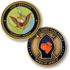 Camp Lemonnier Challenge Coin Djibouti Horn of Africa US Navy Base CJTF-HOA