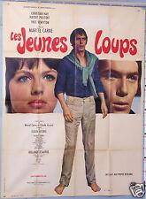 VINTAGE MOVIE POSTER AFFICHE ANCIENNE 1968 FILM LES JEUNES LOUPS MARCEL CARNÉ