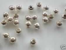 BULK! 1200 x 2mm Silver Plated Round Spacer Beads F02M3