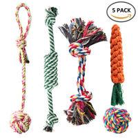 5X PET chien jouets Toys corde dur forte mâcher noeud noué chiot sain dents