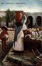 Mexiko México ~1910 Scene at the Fountain Partie am Brunnen Native Einheimische