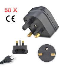 50/20/10/5pc European Converter EU 2 to 3 Pin Plug UK Travel Mains Power Adapter