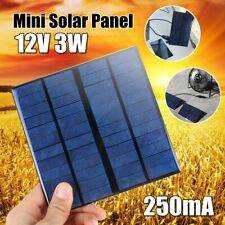 250mA 12V 3W Mini Solar Power Panel Battery Charger Small Cell Module System US