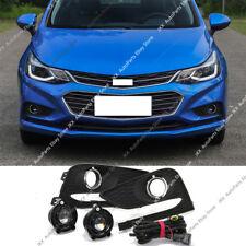 For Chevrolet Cruze 2016- 2018 Bumper Bezel Fog Lights Lens Lamp k Harness Kit