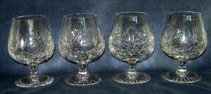 "Four (4) Edinburgh Crystal brandy4 3/4"" Snifters: Star of Edinburgh Pattern"