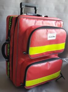 Paramedic Red Dura Wipe Down Multi-Purpose First Aid Trolley Bag SPECIAL OFFER