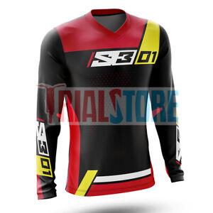 S3 01 Trials Riding Shirt Black/Red -Trials -Offroad -Adventure FreePP