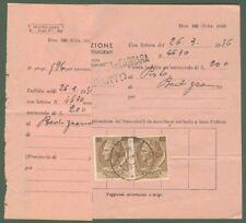 MULTA. Modello 162 delle Poste, per un'ammenda a impiegato postale, del 31.3.56