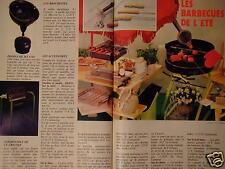 PUBLICITÉ 1982 BARBECUE LE CREUSET PINCE ET GANT ISOLANT - ADVERTISING
