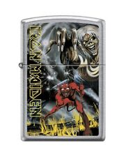 Zippo 3360 Iron Maiden Street Chrome Finish Full Size Lighter