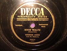 Georgie Cook 'Lefty's Polka / Dixie Waltz  78